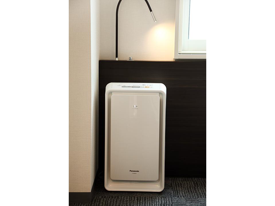 全室に加湿器付き空気清浄機を配置しております
