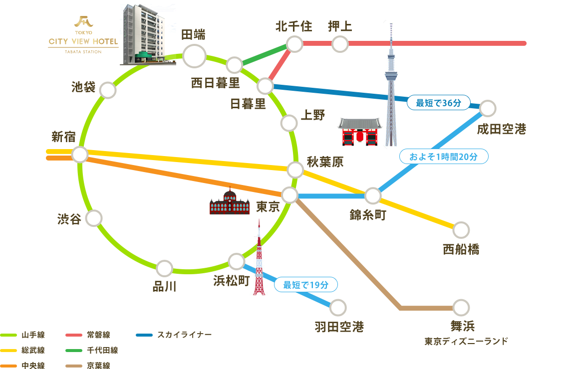 周辺路線マップ